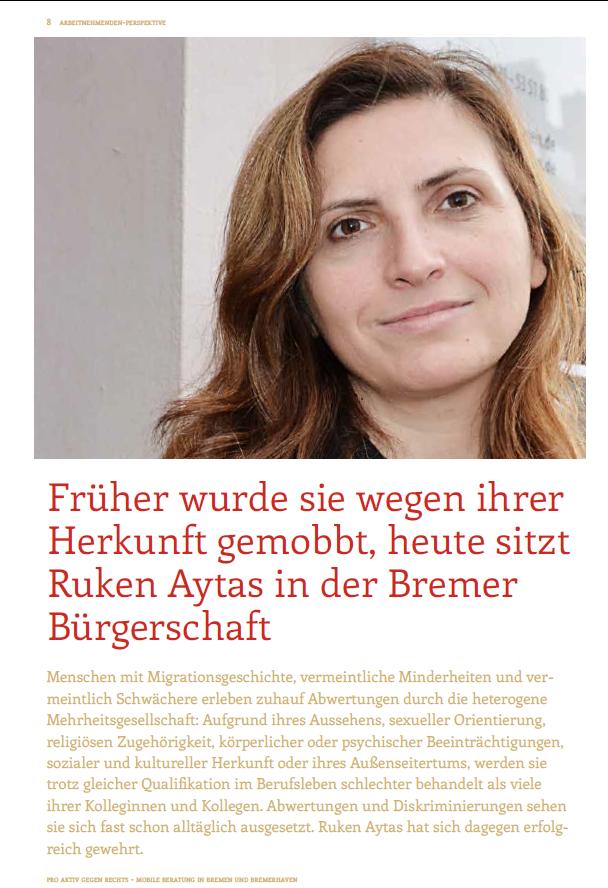 """Das Netzwerk """"pro aktiv gegen rechts - Mobile Beratung in Bremen und Bremerhaven"""" hat am 30. Dezember eine Broschüre zum Thema """"Rechtsextreme Gefährdung am Arbeitsplatz"""" herausgebracht."""