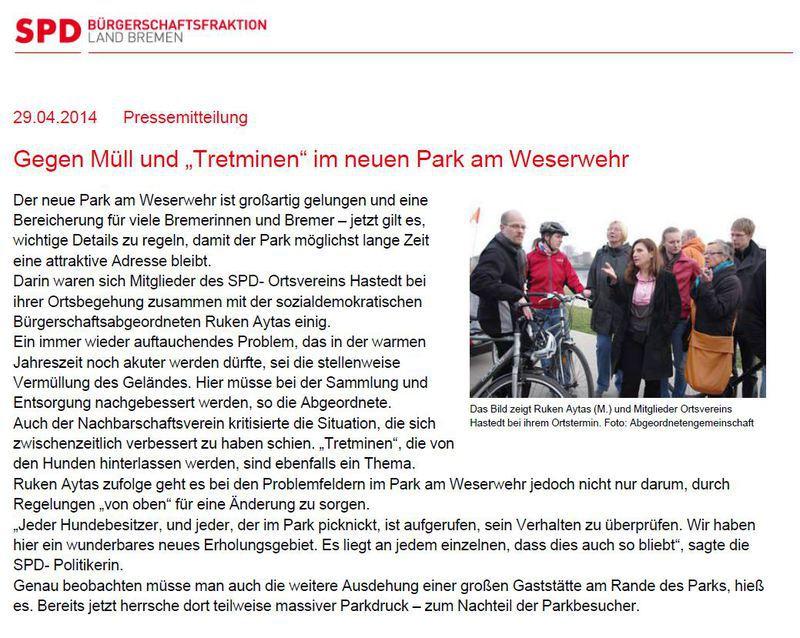 Pressemitteilung von Ruken Aytas - SPD Bremen