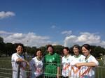"""Fotos von heute mit unserem Fußballteam (mit den Bremer Feuerwehrfrauen) vor den Spielen, """"noch geht es uns gut:))"""""""